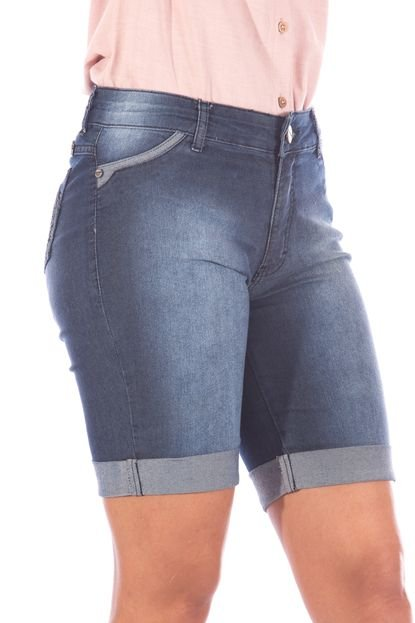 Bermuda Sisal Jeans Ciclista Blue Jeans Stone - Marca Sisal Jeans