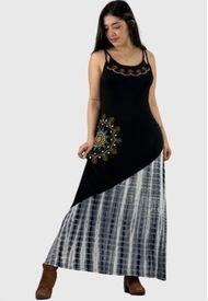 Vestido Largo Hippie Chic  Negro Enigmática Boutique