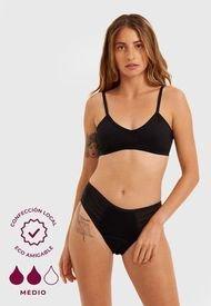 Calzón Menstrual Papaya Bragas Negro