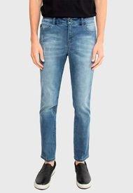 Jeans Ellus New Slim Tiro Medio Azul - Calce Slim Fit