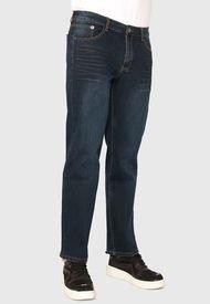 Jeans Ellus  STRAIGHT DARK BLUE FIVE POCKETS HILO CONTRASTE Azul  - Calce Straight Fit