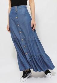 Falda iO Larga Azul - Calce Regular