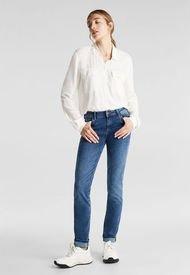 Jeans Slim Medium Rise Celeste ESPRIT