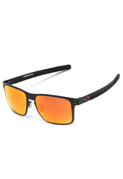 Menor preço em Óculos de Sol Oakley Holbrook MetalPrizm Preto/Vermelho