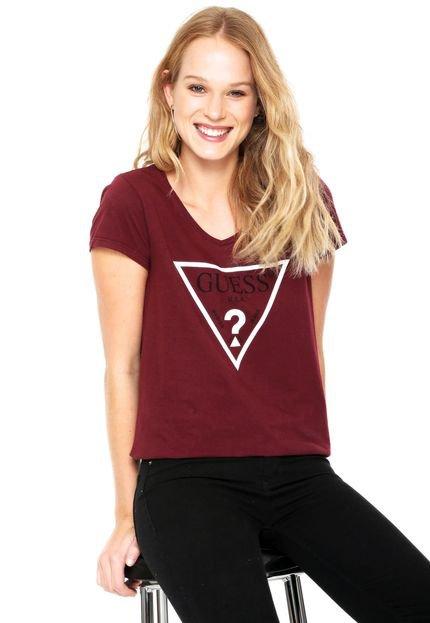 Guess Camiseta Guess Dealer Vinho FGLsE