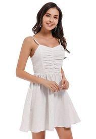 Vestido Pabilo Lunares Blanco Nicopoly