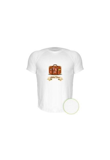 Camiseta Manga Curta Nerderia Travel Branco