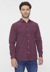 Camisa Miniprint Burdeo Corona