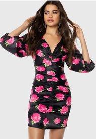 Vestido Ivyrevel Corto Negro - Calce Ajustado