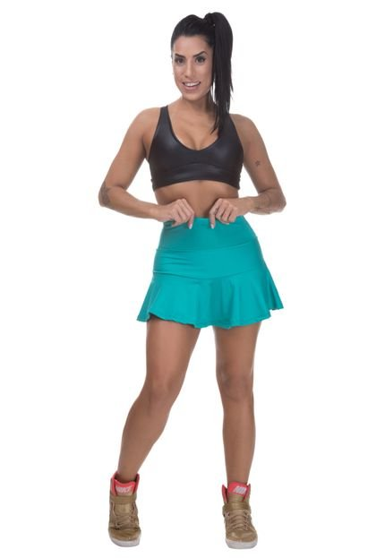 Miss Blessed Short Saia Miss Blessed Premium Confort Rodado Verde yZ4Xl