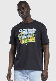 Polera Reebok CL INTL TEE WEST Negro - Calce Regular