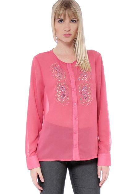 Energia Camisa Energia Fashion Com Termocolantes Rosa VHlI4