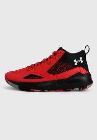 Tenis Basketball Rojo-Negro-Gris UNDER ARMOUR Lockdown 5