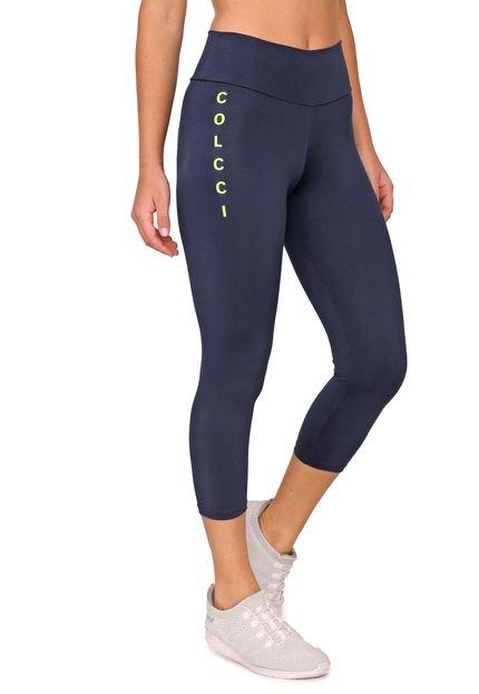 Legging Colcci Fitness Lettering Azul-marinho - Marca Colcci Fitness