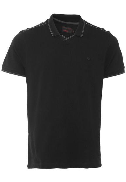 Camisa Polo Forum Reta Gola V Preta