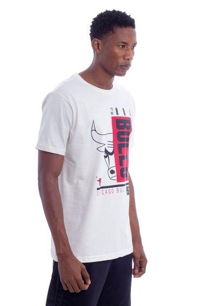 Camiseta NBA Chicago Bulls Off White