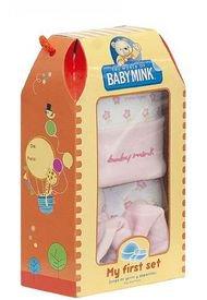 Pack Para Bebé, Gorrito Y Zapatos Rosa Baby Mink