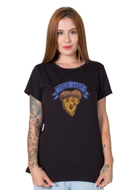 Stoned Camiseta  True Love Preto rb7Ae