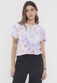 Polera Fun Crop  Rosa Tie Dye - Positive I - Mujer Corona
