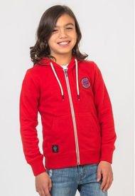 Poleron Con Cierre Regular Fit Color Rojo Polemic