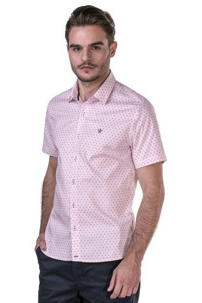 Camisa Docthos Manga Curta Rosa