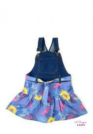 Vestido Jardinero Azul