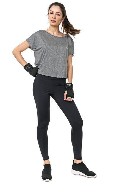 Colcci Fitness Blusa Cropped Colcci Fitness Lisa Cinza