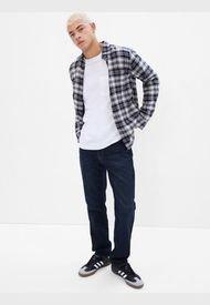 Jeans Straight Dark Wash Azul Oscuro GAP