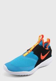 Tenis Lifestyle Azul-Negro-Naranja-Blanco Nike Kids Flex Runer
