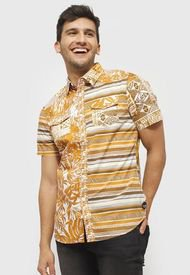Camisa Desigual Camel - Calce Regular