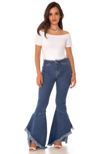 Use Jeans Calça Jeans Express Hot Flare Diva Azul NsFrR