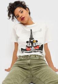 Polera Jacqueline de Yong Disney Blanco - Calce Holgado
