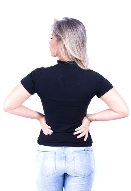 Up Side Wear Camiseta Up Side Wear Veludo Preta 9SPSW