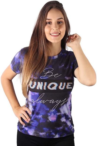 Over Fame Camiseta Baby Look Unique Always Tie Dye Md17 8VvnM