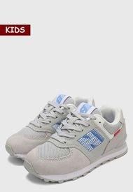 Tenis Lifestyle Gris-Azul New Balance Kids 574