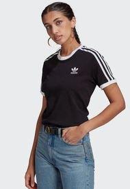 Polera adidas originals 3 STRIPES TEE Negro - Calce Regular