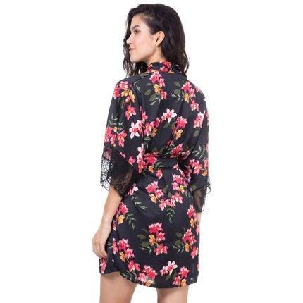 Marcyn Lingerie Robe Cetim Homewear Estampado -  589.0725 Marcyn Lingerie PIJAMAS Multicolorido