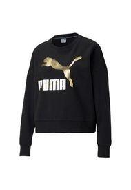 Buzo Negro Puma Classics Logo