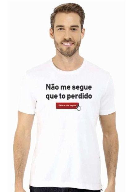 Camiseta Manga Curta Relaxado To Perdido Branco