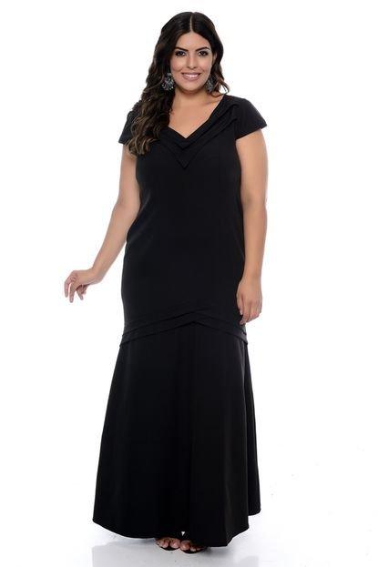 Forma Rara Vestido Forma Rara de Festa Plus Size Scarlett Preto HzSiA