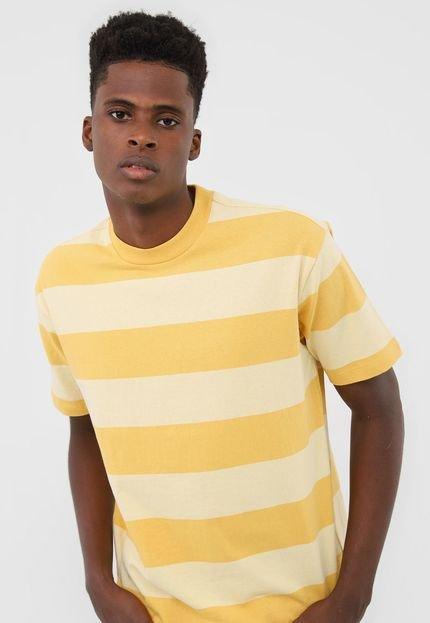 Camiseta GAP Listrada Amarela