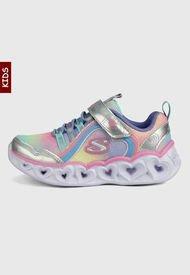 Tenis Lifestyle Multicolor Skechers Kids Heart Lights Lux