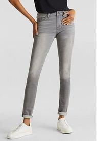 Jeans Skinny Medium Rise Gris Esprit