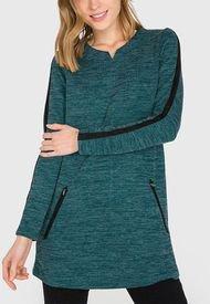 Polerón iO Tipo Vestido Verde - Calce Holgado