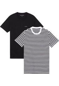 Camisetas Slim 2Pack Negro Calvin Klein