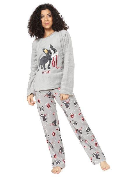 Menor preço em Pijama Any Any Dog Cinza