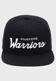 Jockey  Snapback Golden State Warriors Negro Mitchell & Ness