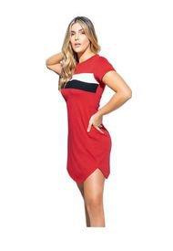 Vestido Corto Para Mujer Rojo MP