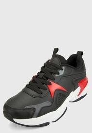 Tenis Lifestyle Negro-Rojo ATHLETIC
