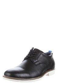 Zapato Negro Stork Man de Cuero